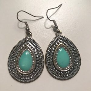 Blue Dangly earrings